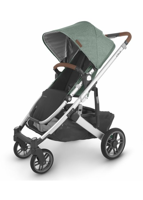 UppaBaby Uppa Baby Cruz V2 Stroller In EMMETT (green mélange/silver/saddle leather)