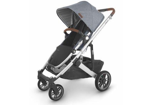 UppaBaby Uppa Baby Cruz V2 Stroller In GREGORY (blue mélange/silver/saddle leather)