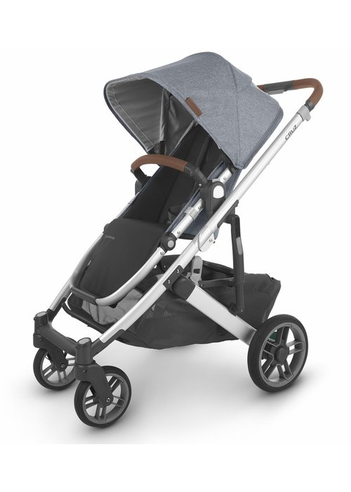 UppaBaby Uppa Baby Cruz V2 Stroller In GREGORY (blue mélange/silver/saddle leather)