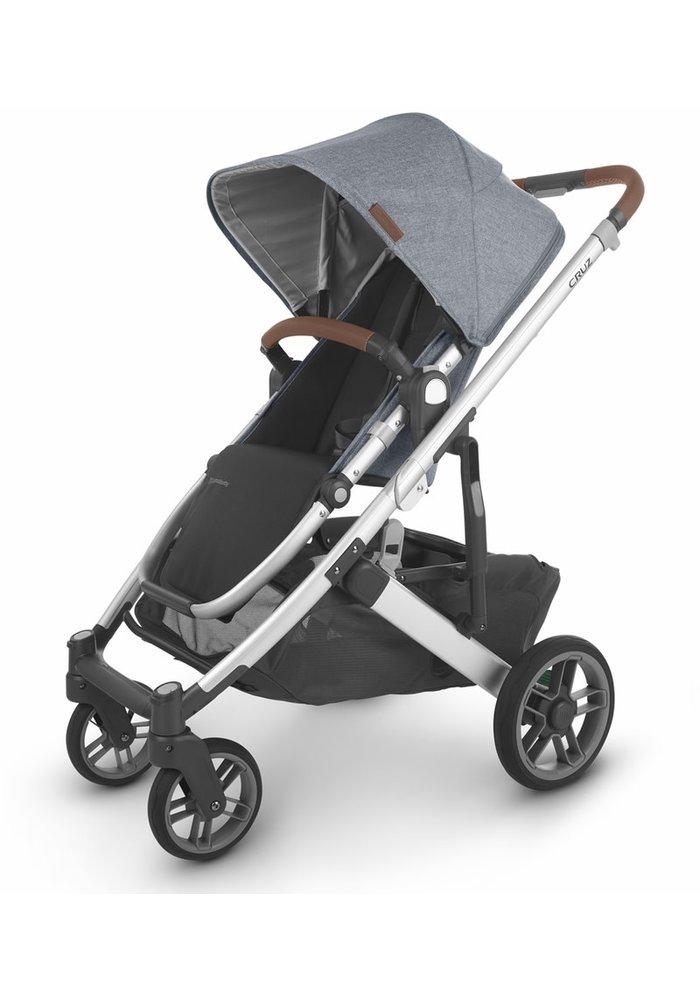 Uppa Baby Cruz V2 Stroller In GREGORY (blue mélange/silver/saddle leather)