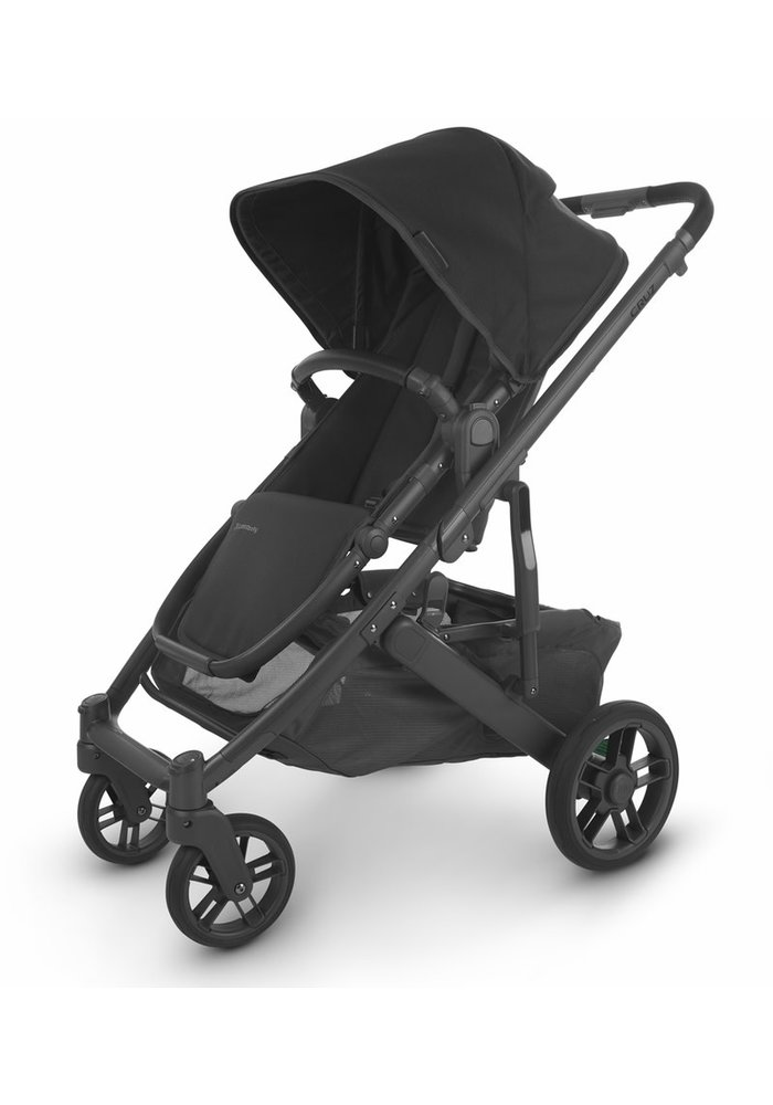 Uppa Baby Cruz V2 Stroller In JAKE (black/carbon/black leather)