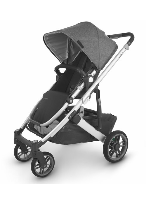 UppaBaby Uppa Baby Cruz V2 Stroller In JORDAN (charcoal mélange/silver/black leather)