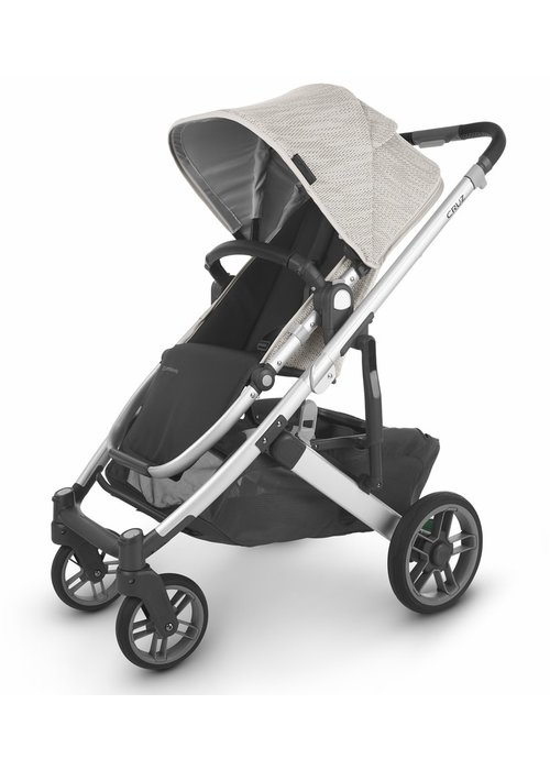 UppaBaby Uppa Baby Cruz V2 Stroller In SIERRA (dune knit/silver/black leather)