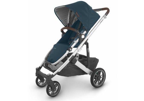 UppaBaby Uppa Baby Cruz V2 Stroller In FINN (deep sea/silver/chestnut leather)