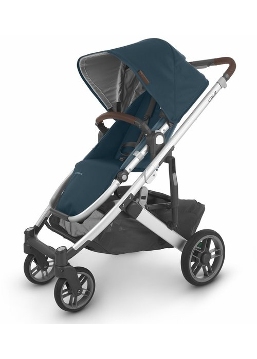 UppaBaby Uppa Baby Cruz V2 Stroller In FINN (deep sea/silver/chestnut leather)