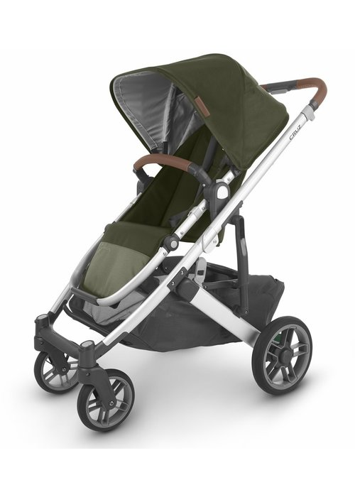 UppaBaby Uppa Baby Cruz V2 Stroller In HAZEL (olive/silver/saddle leather)