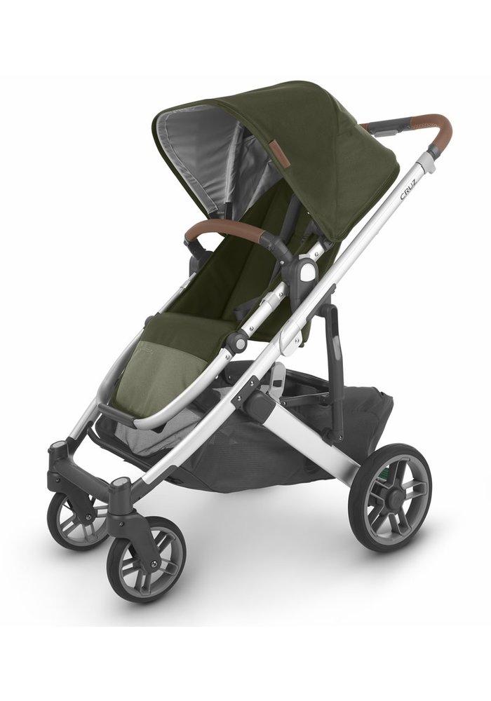 Uppa Baby Cruz V2 Stroller In HAZEL (olive/silver/saddle leather)
