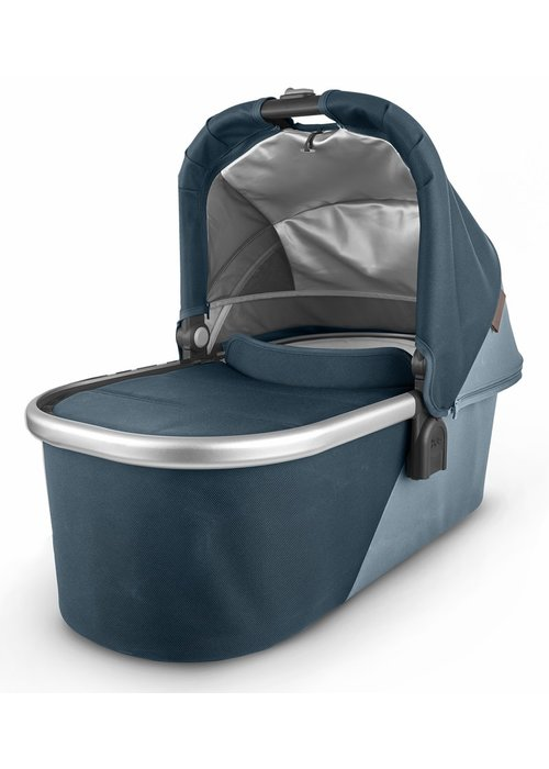 UppaBaby Uppa Baby Vista-Cruz V2 Bassinet - FINN (deep sea/silver/chestnut leather)