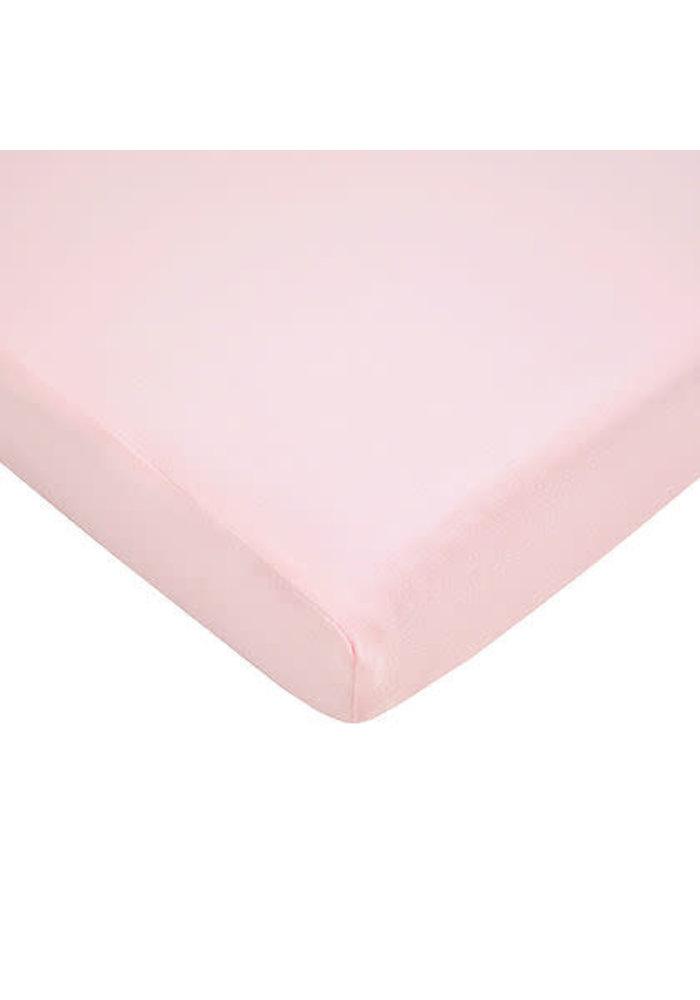 American Baby Knit Porta Crib Sheet In Pink