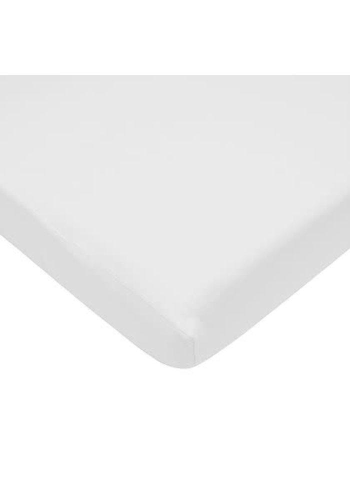 American Baby Knit Porta Crib Sheet In White