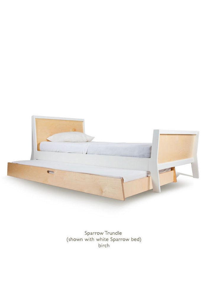 Oeuf Sparrow Collection Twin Bed Trundle In Birch