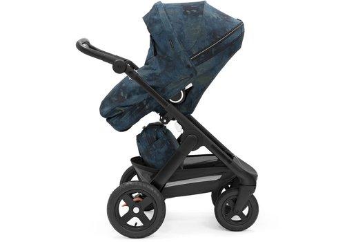 Stokke Stokke Trailz Black Frame- Black Handle Stroller With Terrain Wheels  Freedom Limited Edition
