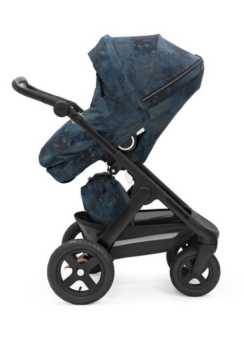 Stokke Stokke Trailz Black Frame- Black Handle Stroller With Terrain Wheels  Freedom Limited Edition