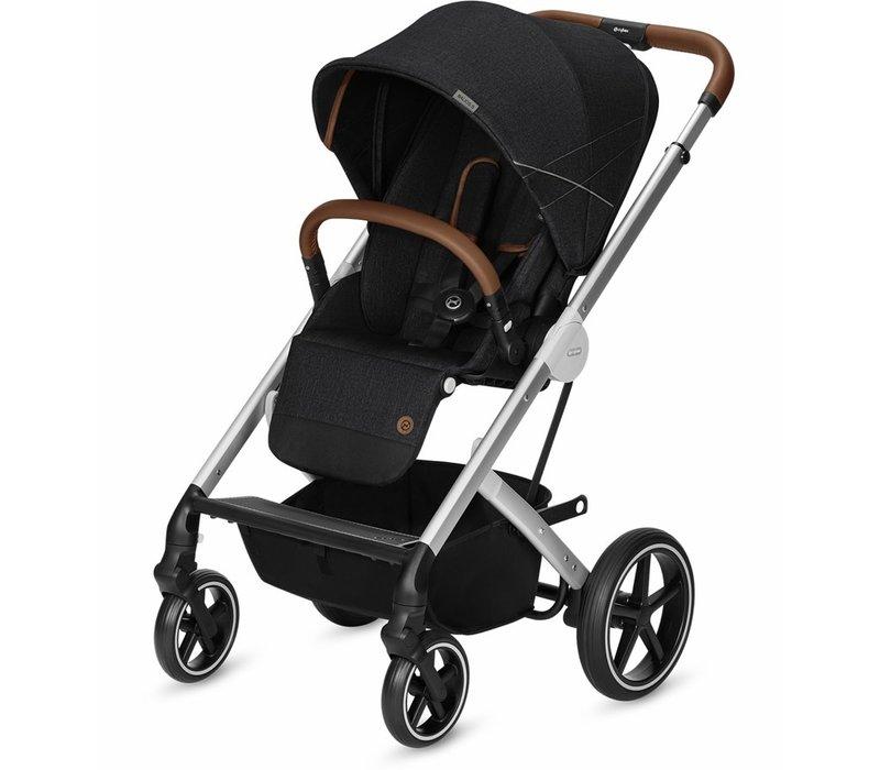 2020 Cybex Balios S Silver Frame Stroller In Denim-Lavastone Black