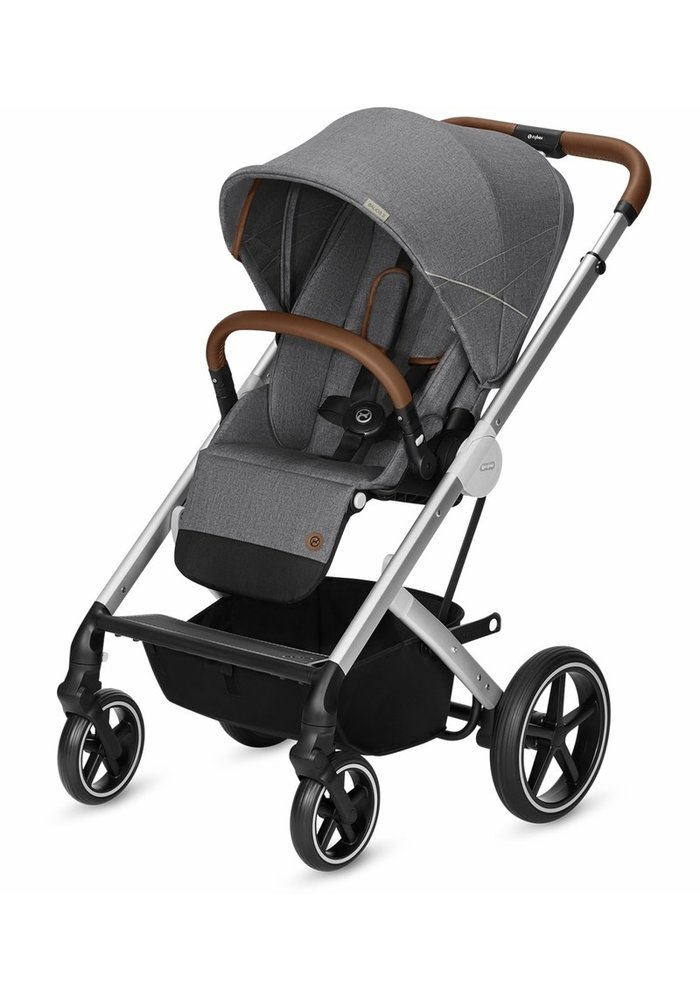 2020 Cybex Balios S Silver Frame Stroller In Denim-Manhattan Grey