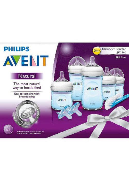 Avent Philips Avent SCD29611 BPA Free Natural Infant Starter Set Blue