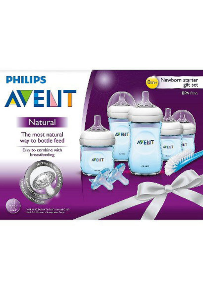 Philips Avent SCD29611 BPA Free Natural Infant Starter Set Blue