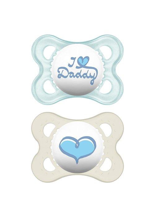 Mam Mam Love & Affection Pacifier 2-Pack (Assorted) - 0-6 months
