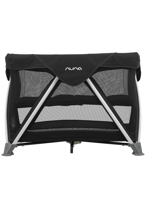 Nuna Nuna Sena Aire Pack and Play Playard Travel Crib With Bassinet In Caviar