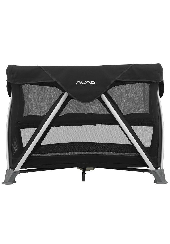 Nuna Sena Aire Pack and Play Playard Travel Crib With Bassinet In Caviar