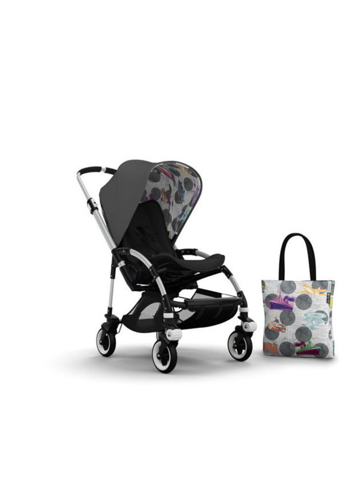 CLOSEOUT!! Bugaboo Bee3 Andy Warhol Accessory Pack In Dark Grey- Transport