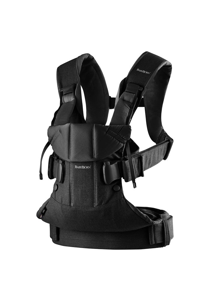 BABYBJORN Baby Carrier One, Cotton In Black