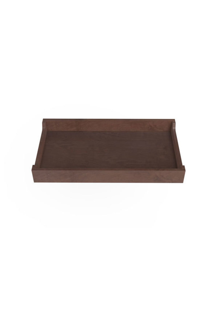 Spot On Square 34'' Wide Changing Tray-Walnut Stain