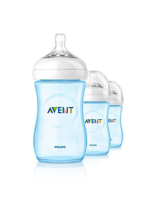 Avent Philips Avent Natural 9 Ounce BPA Free Bottle, 3 Pack In Blue