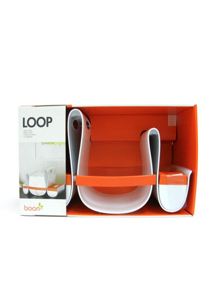 Boon Loop Diaper Caddy In Orange