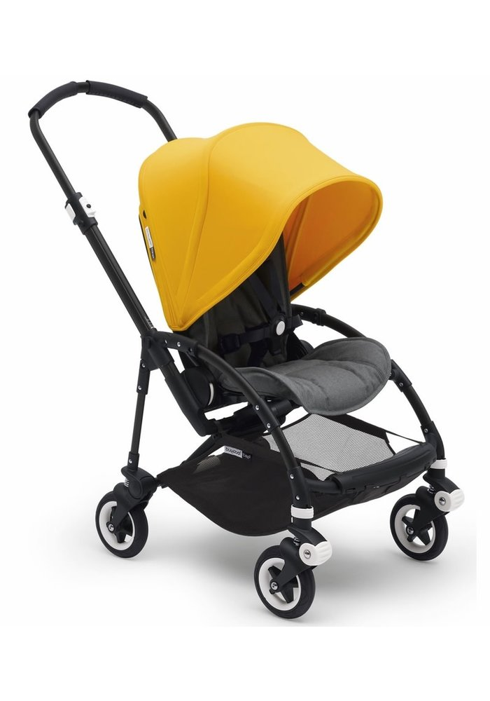 Bugaboo Bee5 Complete Stroller -Black/Grey Melange/ Sunrise Yellow