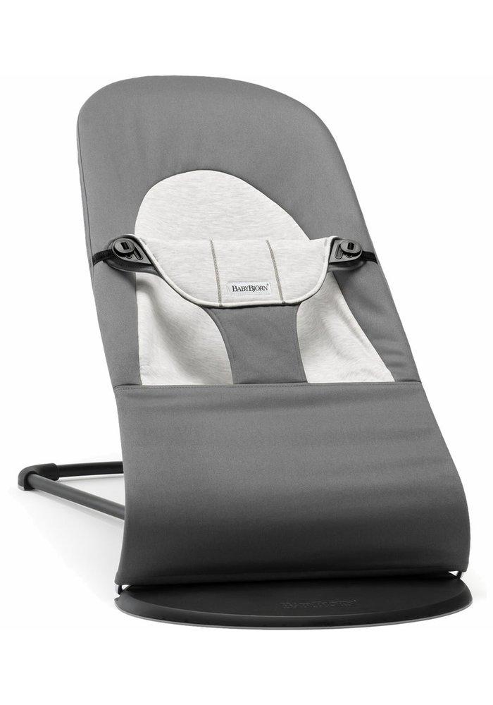 BABYBJORN Bouncer Balance Soft Cotton, Jersey - Dark Grey/Grey