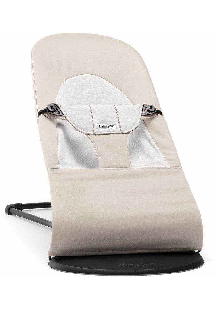 BABYBJORN Bouncer Balance Soft Cotton, Jersey - Beige/Grey