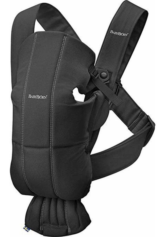 BABYBJORN Baby Carrier Mini, Cotton In Black