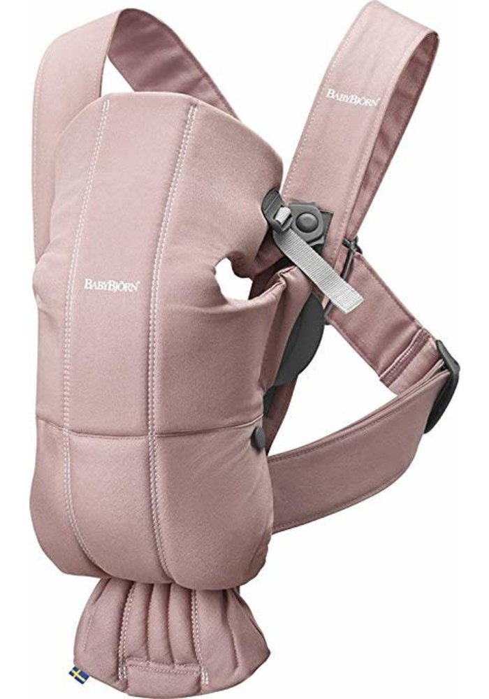BABYBJORN Baby Carrier Mini, Cotton In Dusty Pink