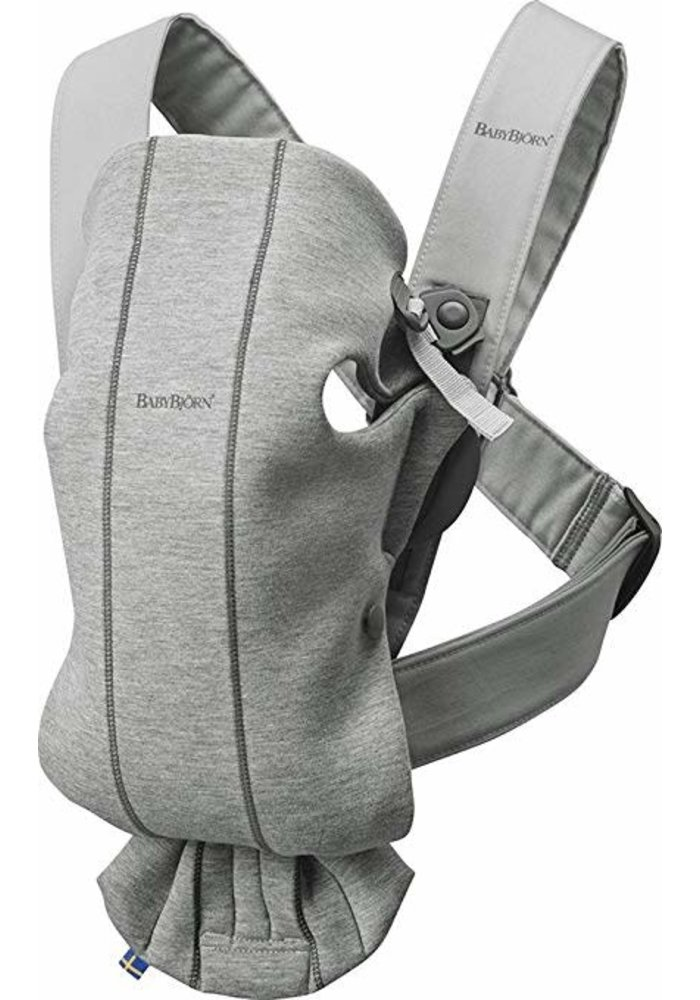 BABYBJORN Baby Carrier Mini 3D Jersey, In Light Grey (Heather)