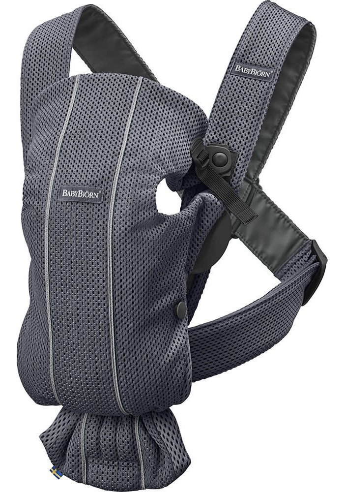 BABYBJORN Baby Carrier Mini 3D Mesh, In Anthracite (Slate Grey)