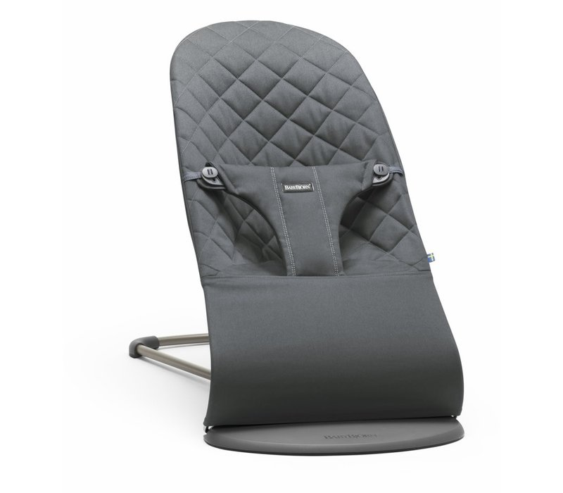 BABYBJORN Bouncer Bliss Quilted Cotton - Anthracite (Slate Grey)