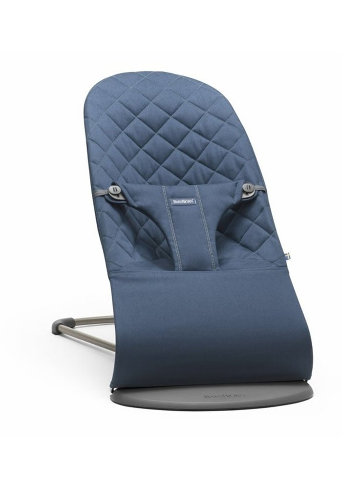 BABYBJORN Bouncer Bliss Quilted Cotton - Midnight Blue