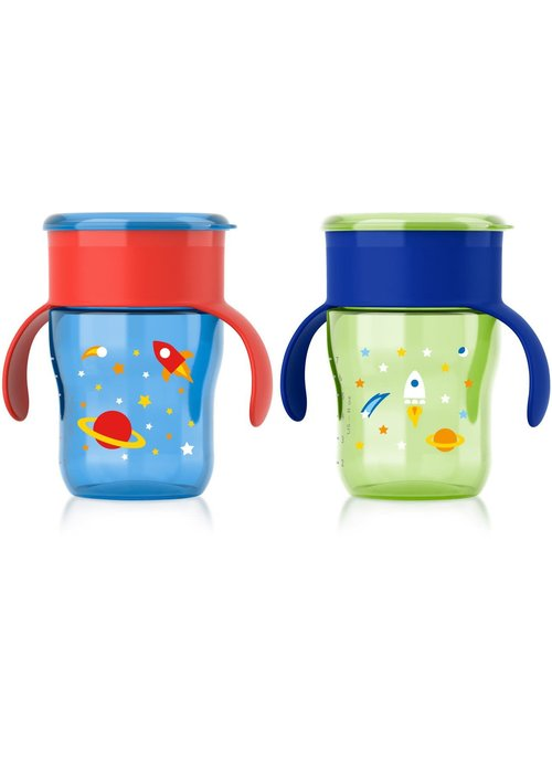Avent Philips Avent My Natural Drinking Cup 9oz, 2pk, Blue/Green
