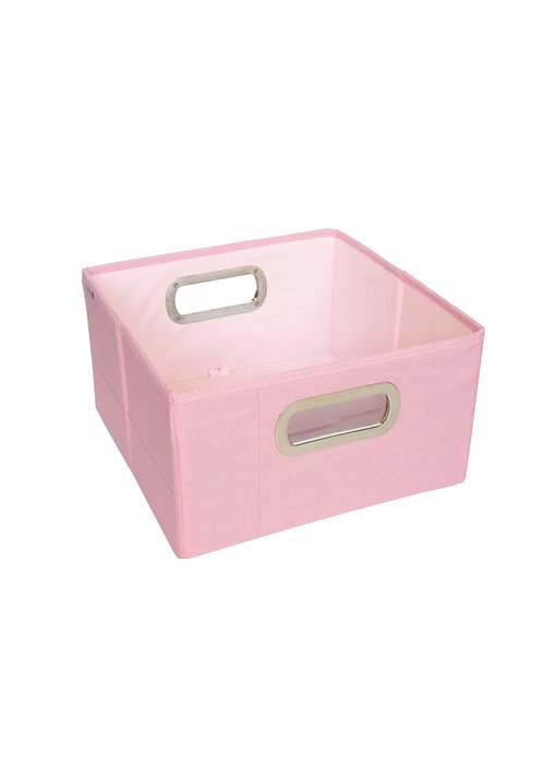 JJ Cole Collections JJ Cole Storage Box 6.5 Inch Short In Pink Heather