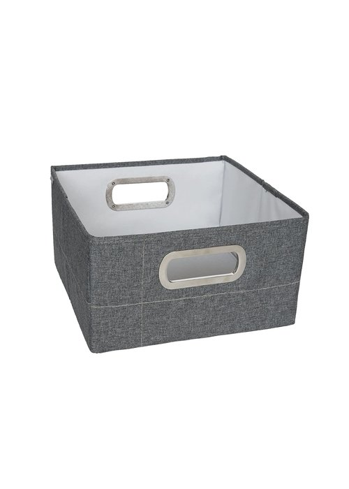 JJ Cole Collections JJ Cole Storage Box 6.5 Inch Short In Slate Heather
