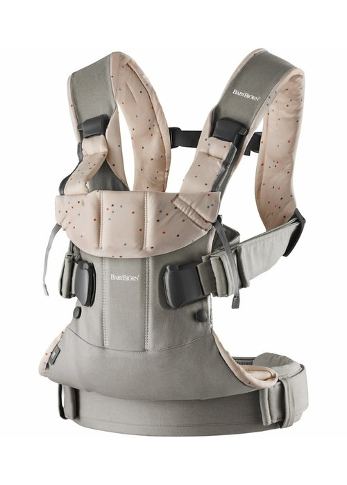 Baby Bjorn BABYBJORN Baby Carrier One, Cotton In Classic Grey/ Pink Sprinkles (OTO)