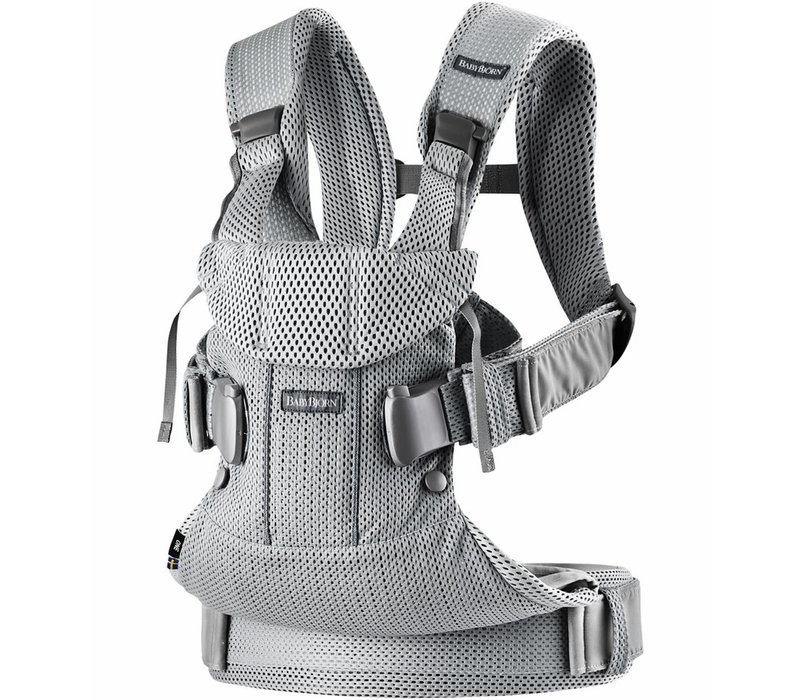 BABYBJORN Baby Carrier One, Air In Silver In 3D Mesh