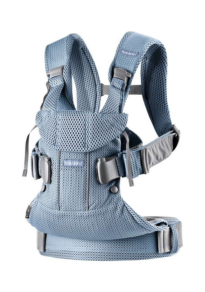 BABYBJORN Baby Carrier One, Air In Slate Blue In 3D Mesh