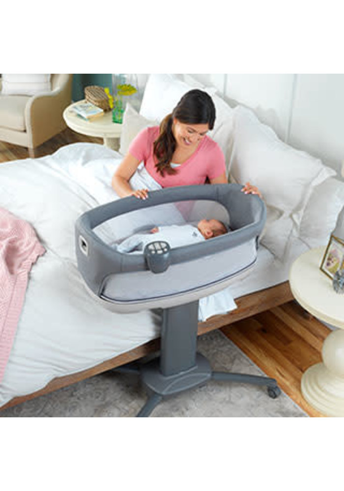 Chicco Close To You Bedside Bassinet In Heather Grey