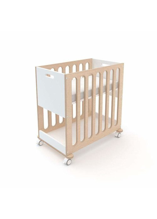 Oeuf Oeuf Fawn 2 In 1 Bassinet -Crib System In White/Birch