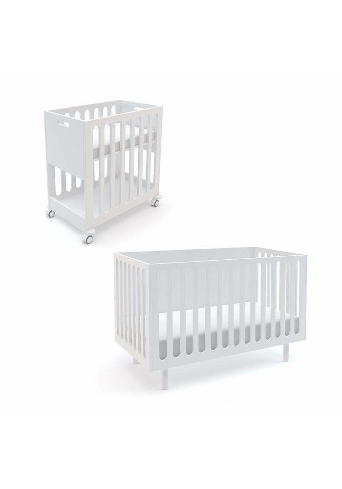 Oeuf Fawn 2 In 1 Bassinet -Crib System In White/Birch