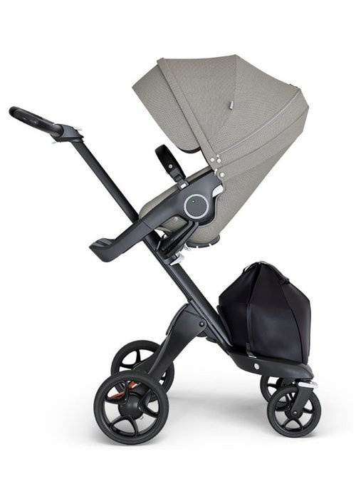 Stokke Stokke Xplory Black Chassis -Stroller Seat Brushed Grey and Black Handle