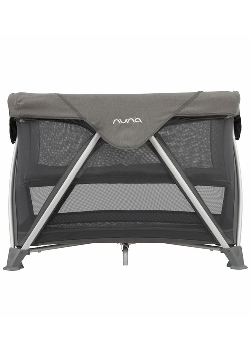 Nuna Nuna Sena Aire Pack and Play Playard Travel Crib With Bassinet In Granite