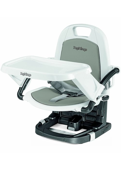 Peg-Perego Peg Perego Rialto Booster Seat Highchair In Ice- Light Grey